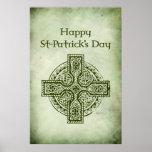 Cruz del Day.Celtic de St Patrick feliz Impresiones