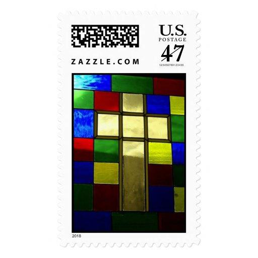Cruz del desierto timbre postal