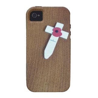 Cruz del día de la conmemoración iPhone 4 funda
