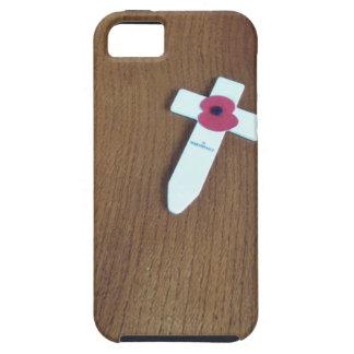 Cruz del día de la conmemoración iPhone 5 Case-Mate protector