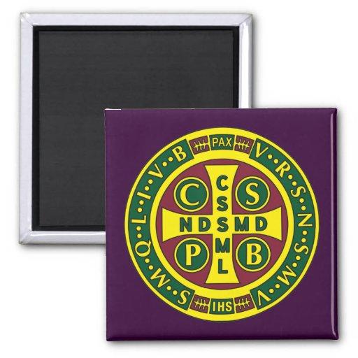 Cruz del diseño 2 del St. Benedicto Imán Para Frigorífico