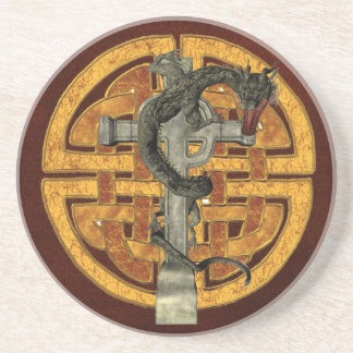 Cruz del dragón posavasos diseño