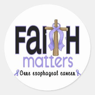 Cruz del esófago 1 de las materias de la fe del cá etiquetas redondas