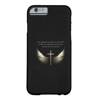 Cruz del Espíritu Santo y del cristiano con verso Funda De iPhone 6 Barely There