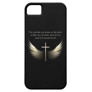Cruz del Espíritu Santo y del cristiano con verso iPhone 5 Cárcasa