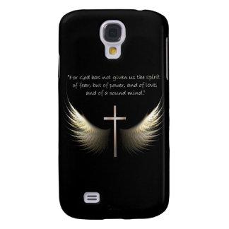 Cruz del Espíritu Santo y del cristiano con verso Funda Para Galaxy S4