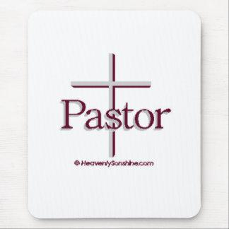 Cruz del gris del pastor de la iglesia alfombrillas de ratones