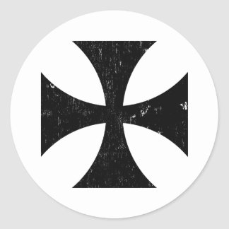 Cruz del hierro - alemán/Deutschland el Ejército Pegatina Redonda