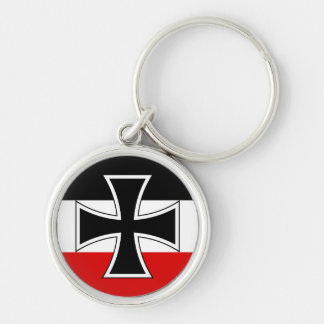 Cruz del hierro de Alemania Llavero Redondo Plateado