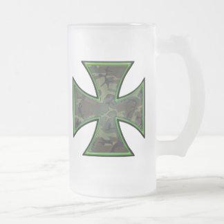 Cruz del hierro de Camo Taza De Cristal