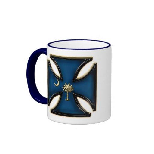 Cruz del hierro de Carolina del Sur Tazas De Café