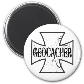 Cruz del hierro de Geocacher Imán Redondo 5 Cm