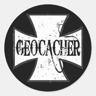 Cruz del hierro de Geocacher Pegatinas