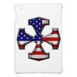 Cruz del hierro de la bandera americana iPad mini coberturas
