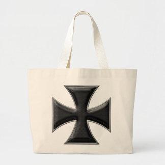 Cruz del hierro de la fibra de carbono - negro bolsa lienzo