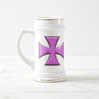 Cruz del hierro de la fibra de carbono - rosa jarra de cerveza