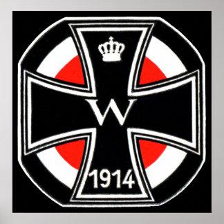 Cruz del hierro de WWI Poster