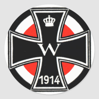 Cruz del hierro de WWI Etiquetas Redondas
