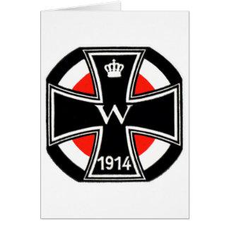 Cruz del hierro de WWI Tarjeta De Felicitación