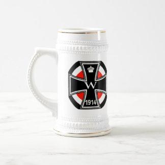 Cruz del hierro de WWI Jarra De Cerveza