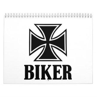 Cruz del hierro del motorista calendario