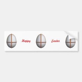 cruz del huevo de Pascua con oro y rubíes Pegatina Para Auto
