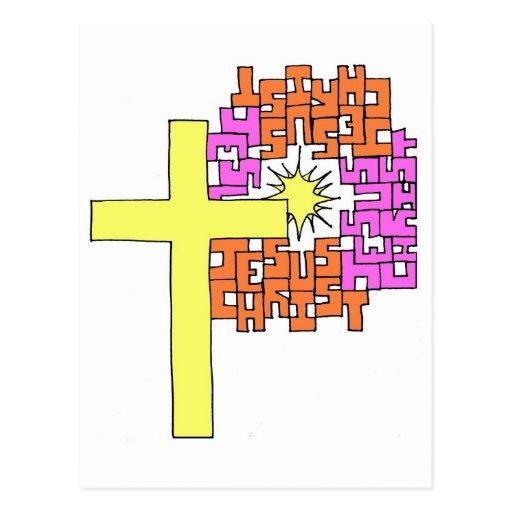 Cruz del Jesucristo Tarjeta Postal