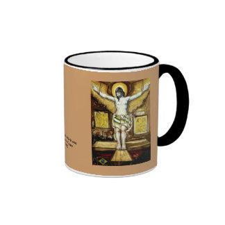 Cruz del la del sobre de Jesús Cristo Taza