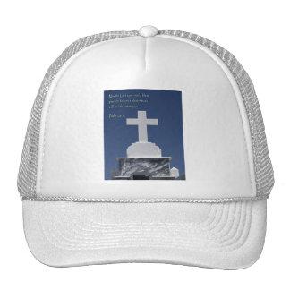 Cruz del mármol del 128:5 del salmo gorra
