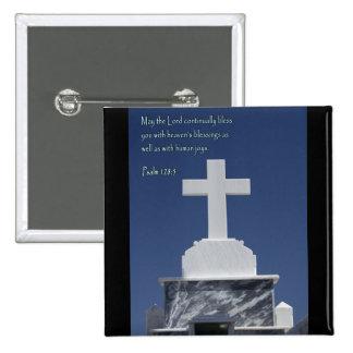 Cruz del mármol del 128:5 del salmo pin