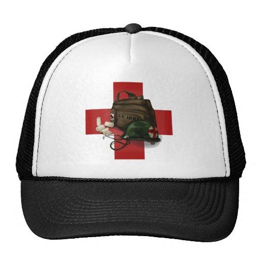 Cruz del médico gorras de camionero