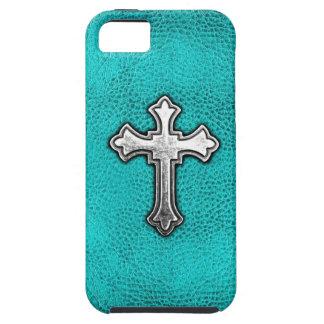 Cruz del metal del trullo iPhone 5 Case-Mate cobertura