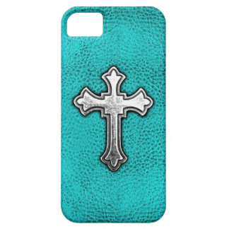 Cruz del metal del trullo iPhone 5 protectores
