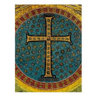 Cruz del mosaico de Ravena Postal
