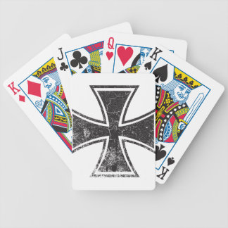 Cruz del motorista baraja de cartas