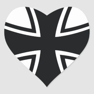 Cruz del motorista pegatina en forma de corazón