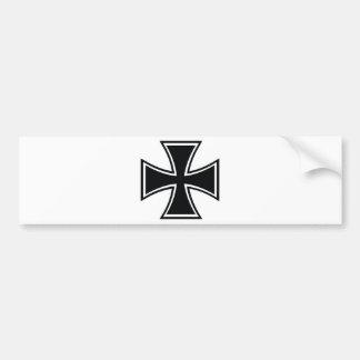 Cruz del motorista pegatina para auto