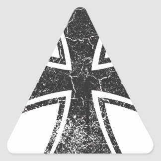 Cruz del motorista pegatina triangular