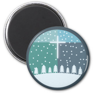Cruz del navidad imán de frigorífico