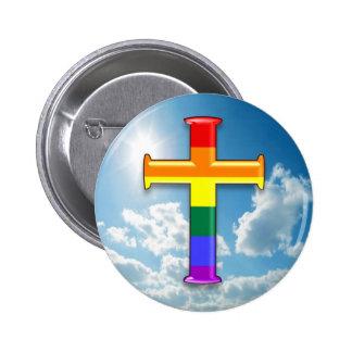 Cruz del orgullo de LGBT Pins