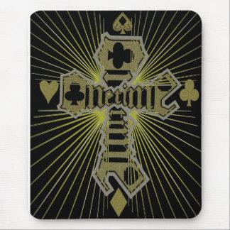 Cruz del oro de Unetime Alfombrilla De Raton