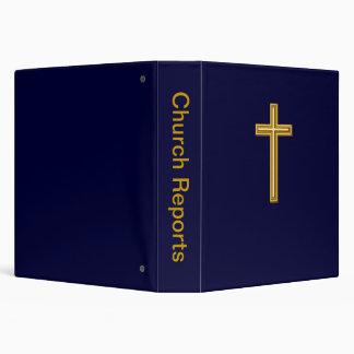 Cruz del oro en azul