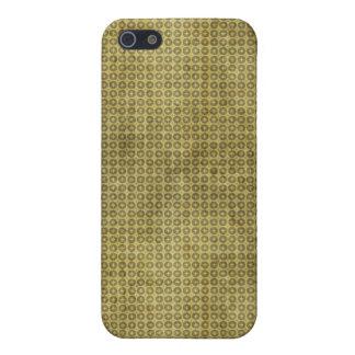 Cruz del oro en caso del iPhone 4 del círculo iPhone 5 Cárcasas