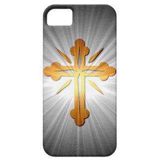 Cruz del oro en los rayos de Sun iPhone 5 Carcasa