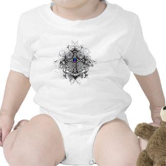 Cruz del rezo de la familia de la fe - cáncer de trajes de bebé