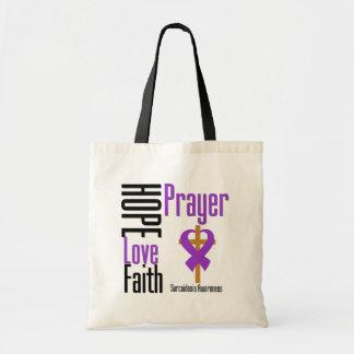 Cruz del rezo de la fe del amor de la esperanza de bolsa tela barata