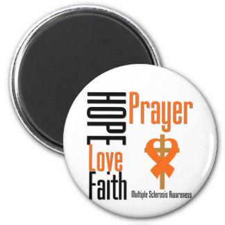 Cruz del rezo de la fe del amor de la esperanza de imán de frigorifico