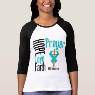Cruz del rezo de la fe del amor de la esperanza de camisetas