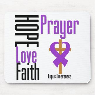 Cruz del rezo de la fe del amor de la esperanza de alfombrillas de raton