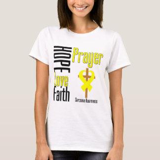 Cruz del rezo de la fe del amor de la esperanza playera